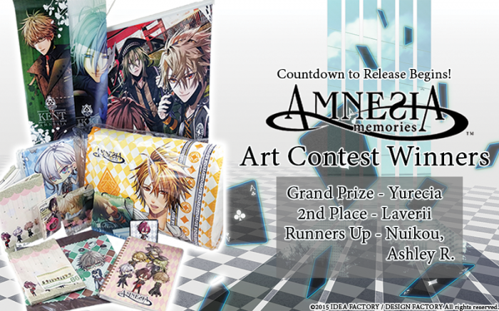 Amnesia Art Contest Winners