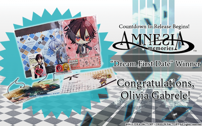 Amnesia Contest First Date winner