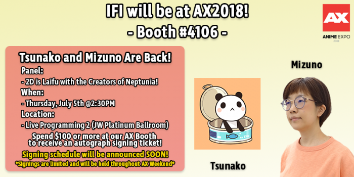 AX Tsunako and Mizuno - Signings